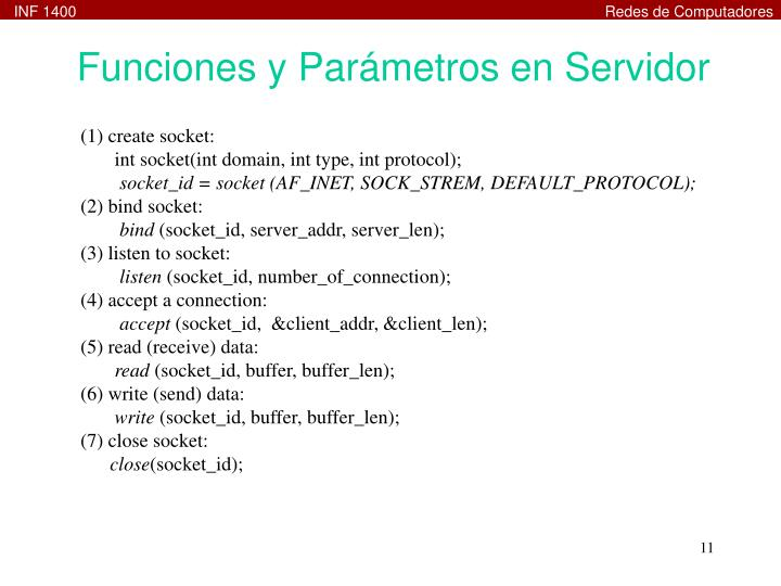 Funciones y Parámetros en Servidor