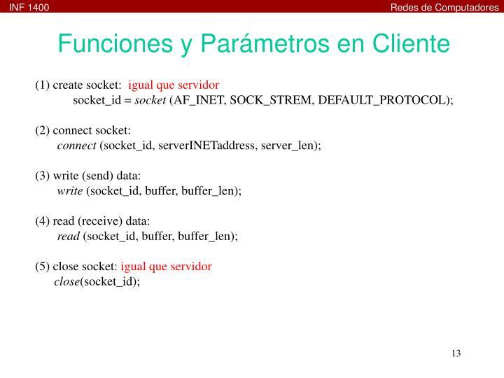 Funciones y Parámetros en Cliente