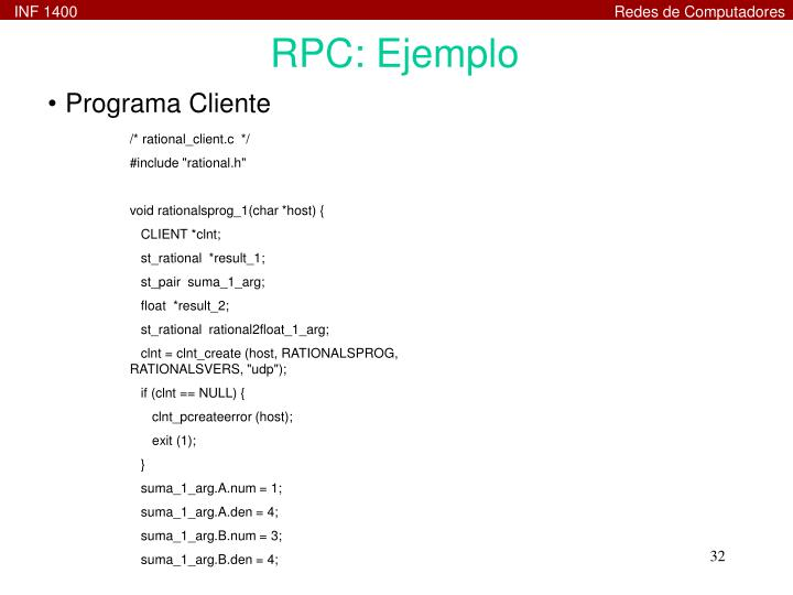 RPC: Ejemplo