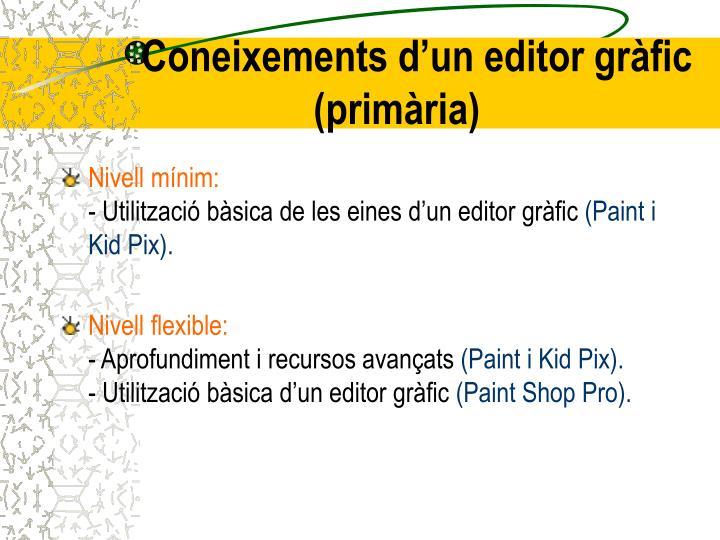 Coneixements d'un editor gràfic