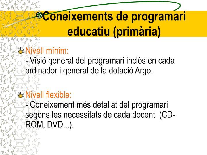 Coneixements de programari educatiu