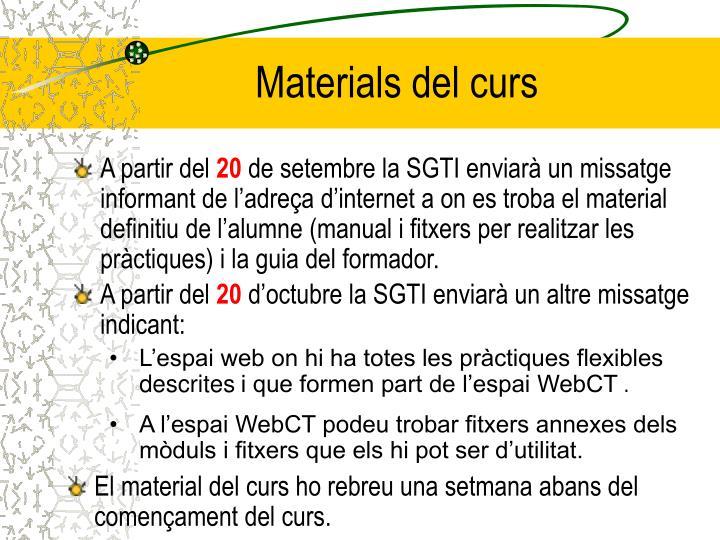 Materials del curs