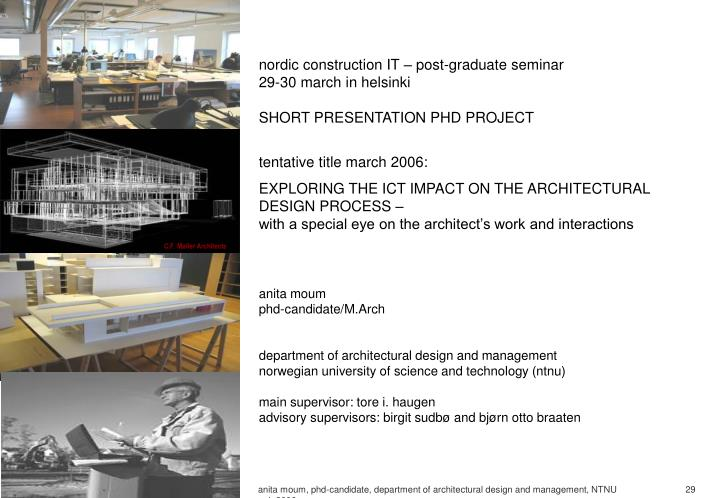 Nordic construction IT – post-graduate seminar