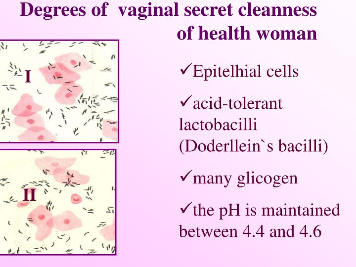Degrees of  vaginal secret cleanness