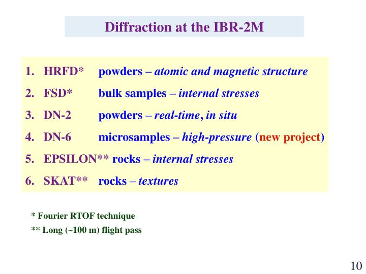 Diffraction at the IBR-2M