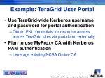 example teragrid user portal