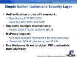simple authentication and security layer