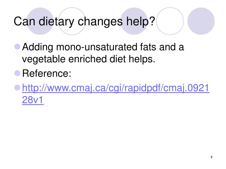Can dietary changes help?