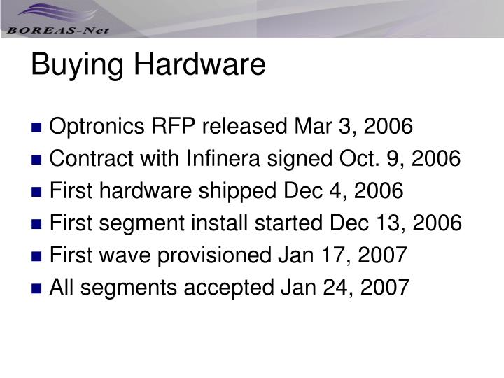Buying Hardware