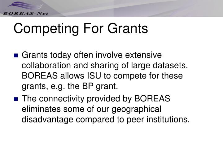 Competing For Grants