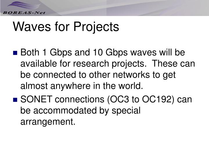 Waves for Projects