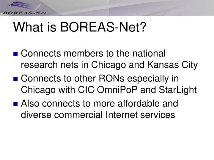 What is boreas net1