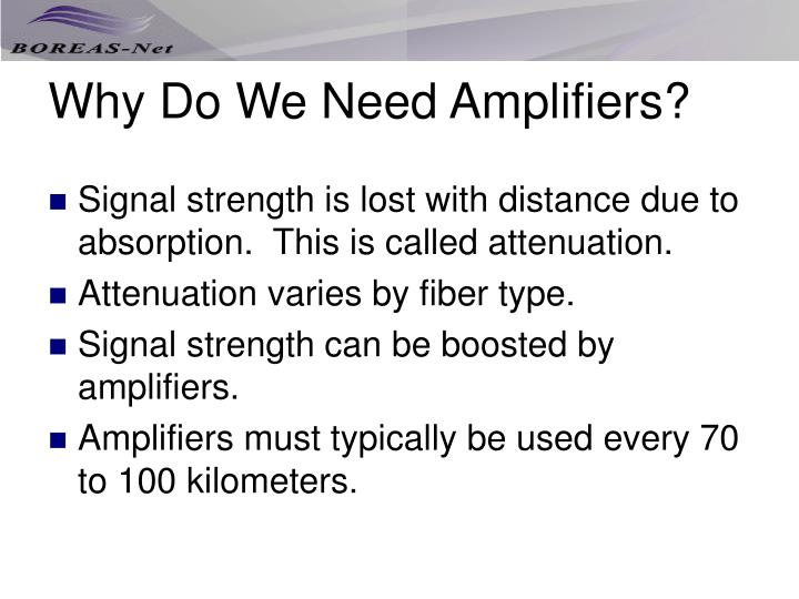 Why Do We Need Amplifiers?