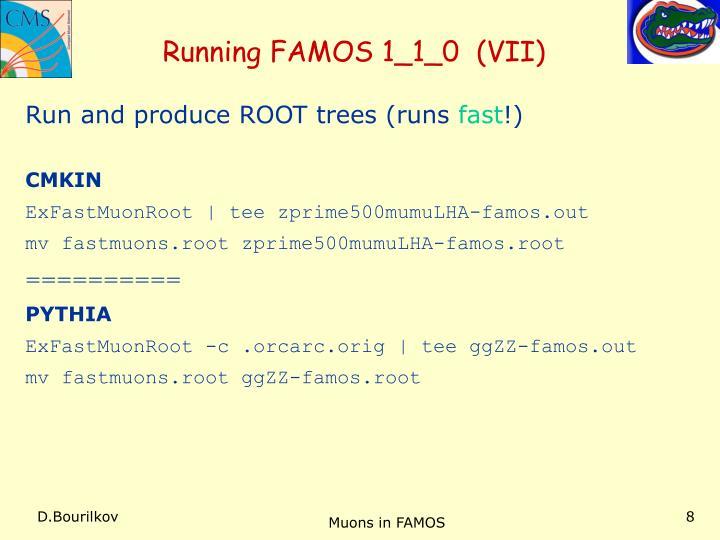 Running FAMOS 1_1_0  (VII)