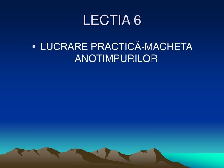 LECTIA 6