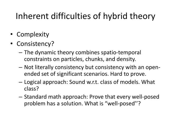 Inherent difficulties of hybrid theory