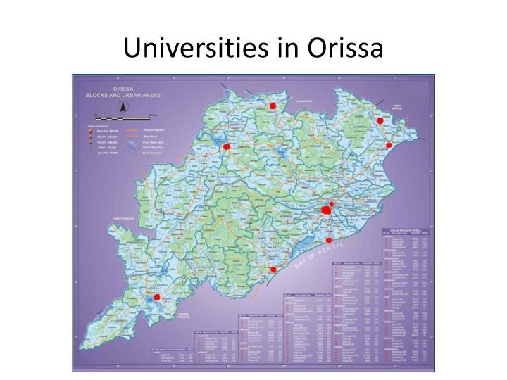 Universities in Orissa