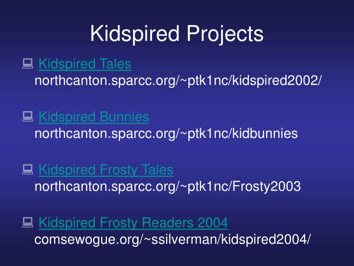 Kidspired Projects
