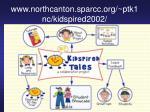 www northcanton sparcc org ptk1nc kidspired2002