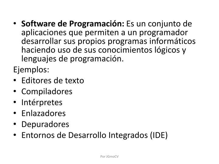 Software de Programación: