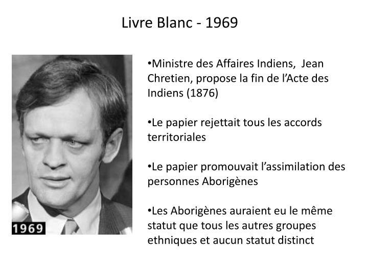 Livre Blanc - 1969
