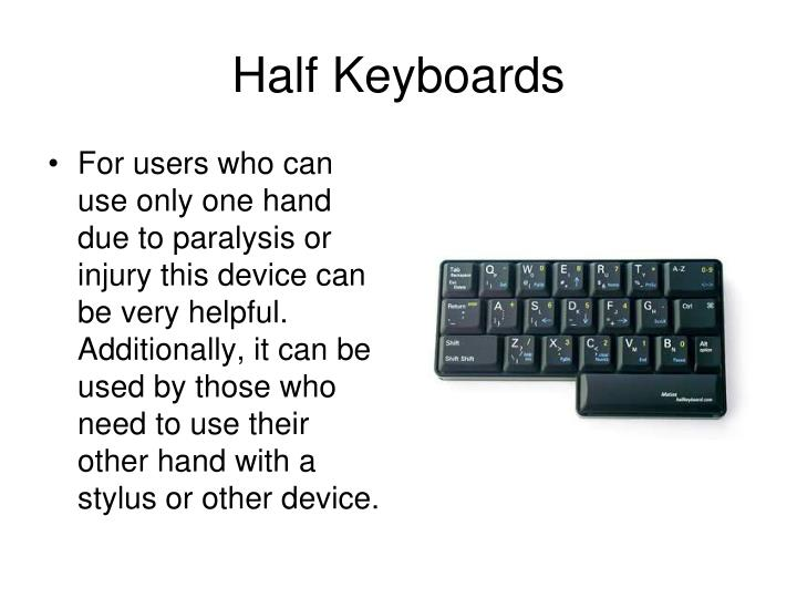 Half Keyboards
