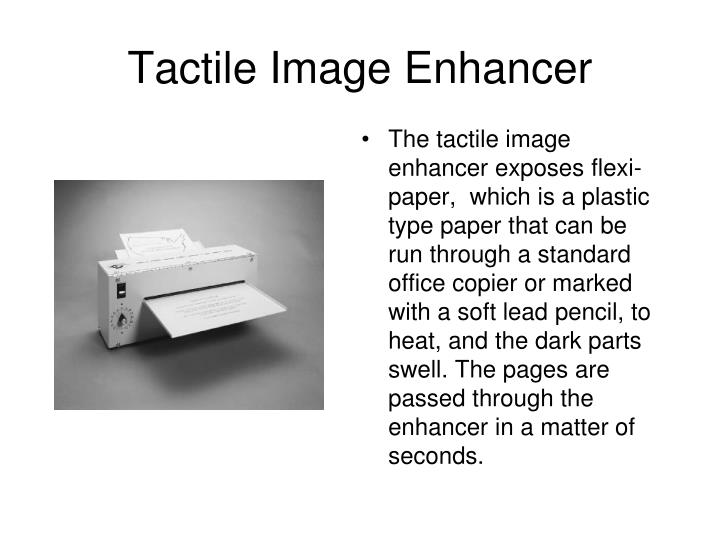 Tactile Image Enhancer