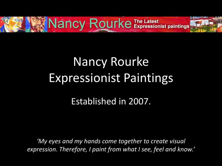 Nancy rourke expressionist paintings