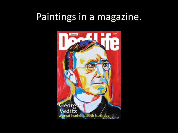 Paintings in a magazine.