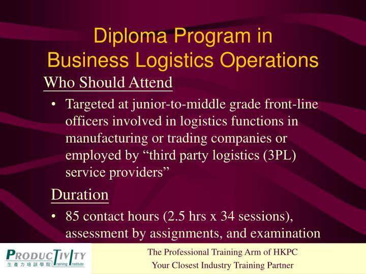 Diploma Program in