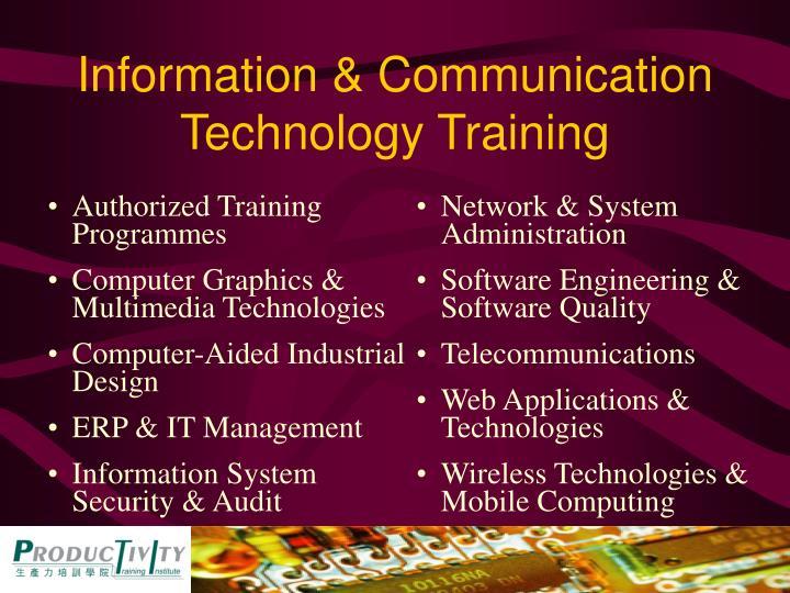 Information & Communication Technology Training