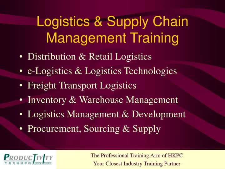 Logistics & Supply Chain Management Training