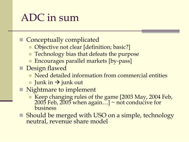 ADC in sum
