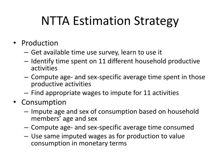 NTTA Estimation Strategy