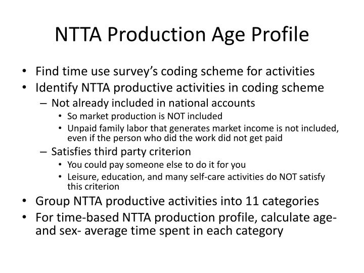 NTTA Production Age Profile