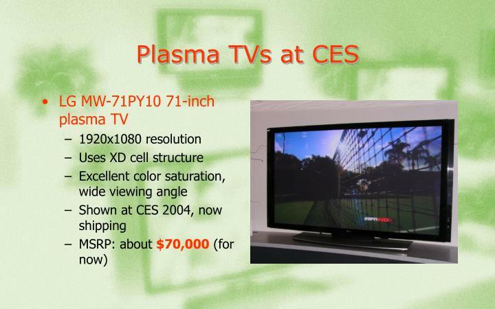 Plasma TVs at CES