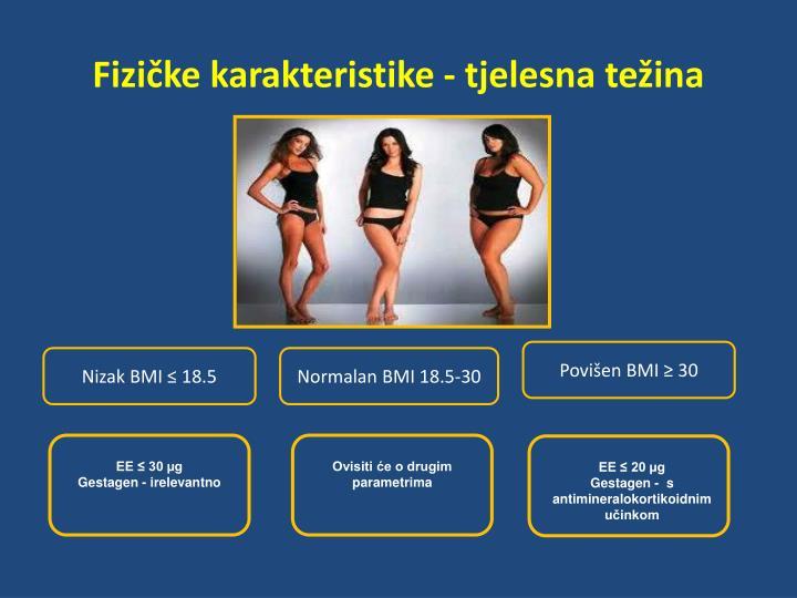 Fizičke karakteristike - tjelesna težina