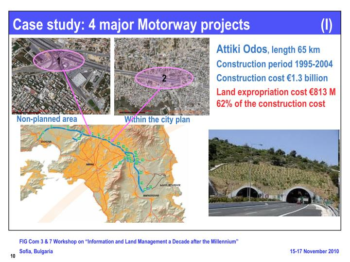 Case study: 4 major Motorway projects                    (I)