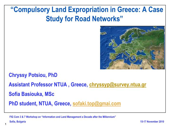 Compulsory land expropriation in greece a case study for road networks