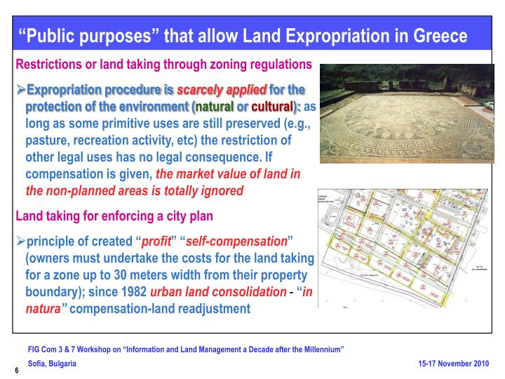 """Public purposes"" that allow Land Expropriation in Greece"