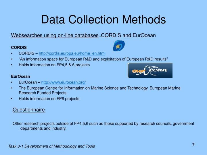 data collection in research methodology Delineating complementary qualitative and quantitative research questions time-intensive data collection and analysis and decisions regarding which research methods to combine3,5 these challenges call for training and multidisciplinary collaboration and may therefore require greater resources (both financial and.