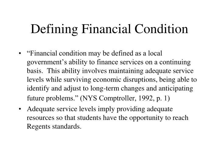 Defining Financial Condition