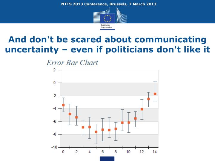 And don't be scared about communicating uncertainty – even if politicians don't like it