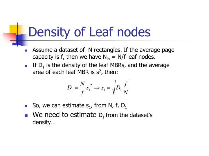 Density of Leaf nodes
