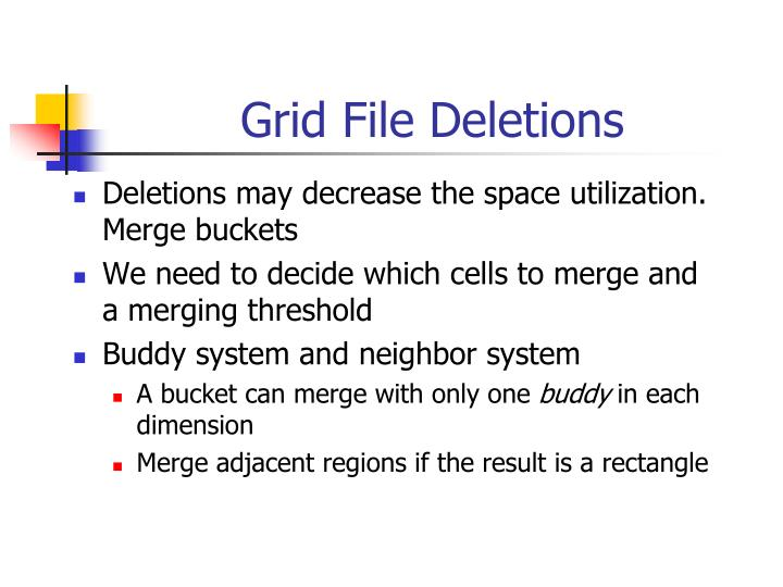 Grid File Deletions