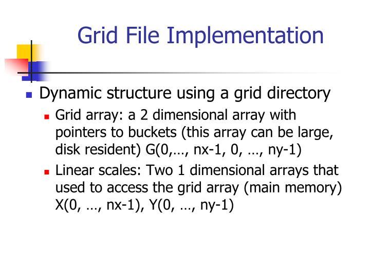 Grid File Implementation