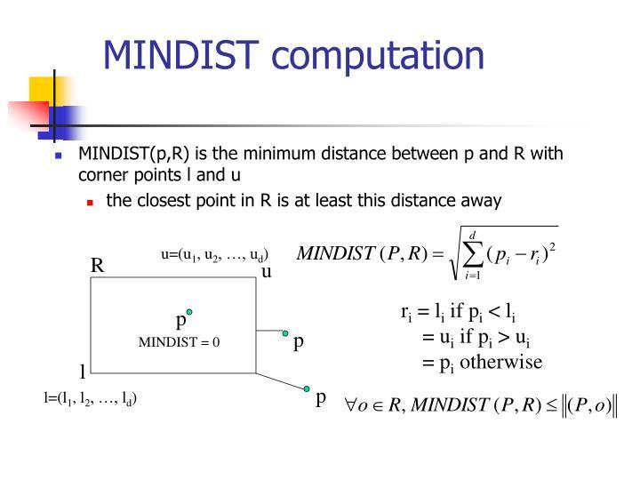 MINDIST computation