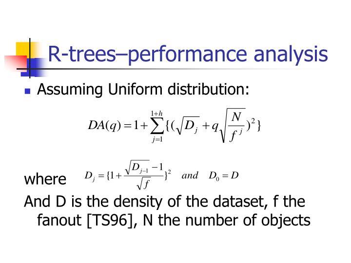 R-trees–performance analysis