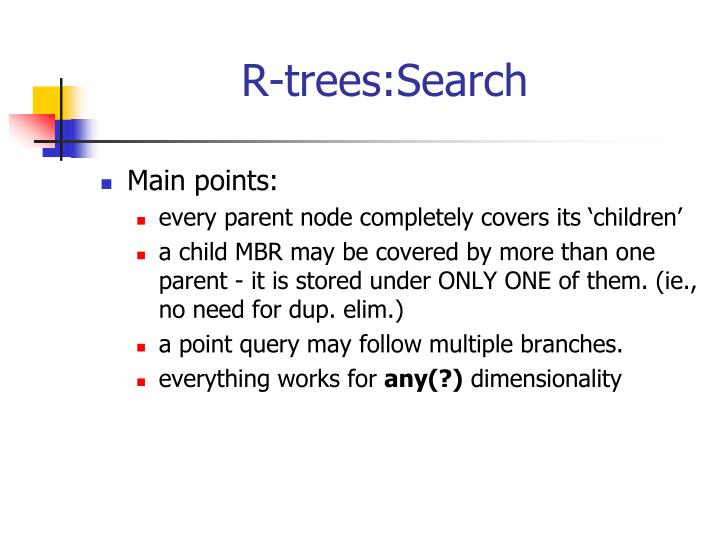 R-trees:Search