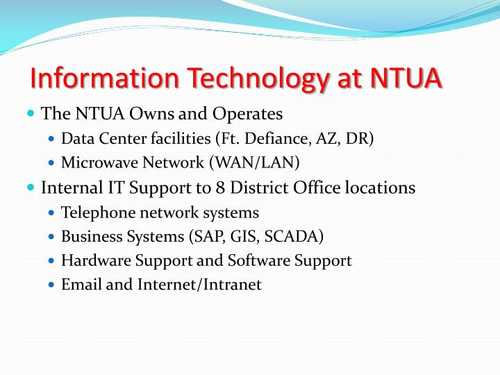 Information Technology at NTUA